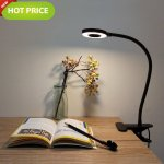 Foneso Desk lamp Flexible 360 Degree Bulb Clamp 2 Mode & 2 Level
