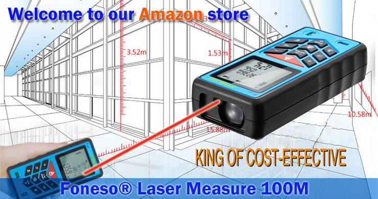 Foneso F100 100m(328ft) Laser Distance Measurer